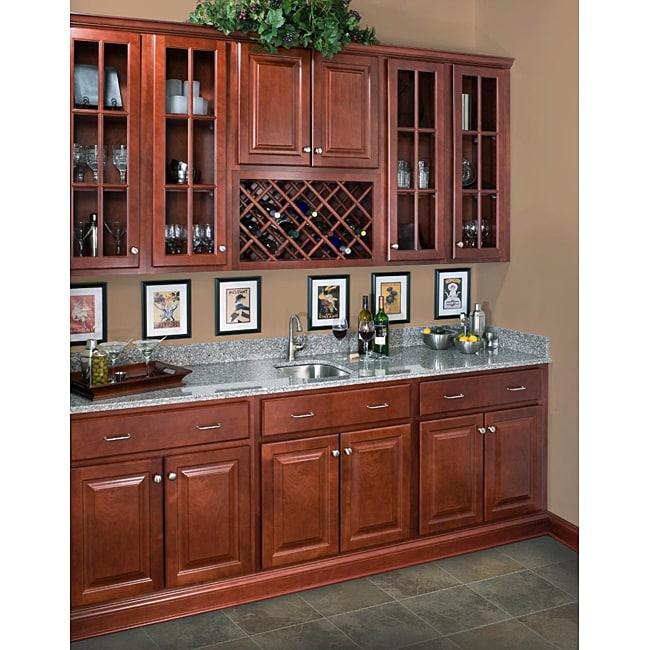 42 Inch Kitchen Cabinets: Rich Cherry 42-inch Wall Cabinet