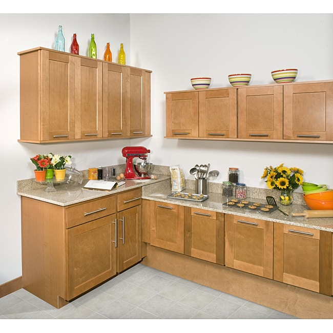 Cabinets Sale: Honey Stained 18-inch Wall Kitchen Cabinet