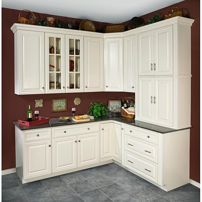 Kitchen Cabinets Antique White: Antique White Wall Kitchen Cabinet (15x36)