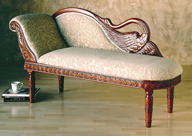 Carved Swan Chaise Lounge 141085 Overstock Com