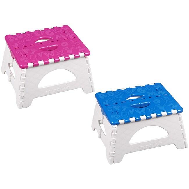 Munchkin Toddler Folding Step Stool 14122068 Overstock