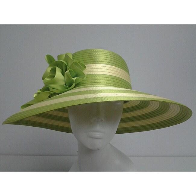 Swan Women S Lime Green Yellow Floppy Church Hat