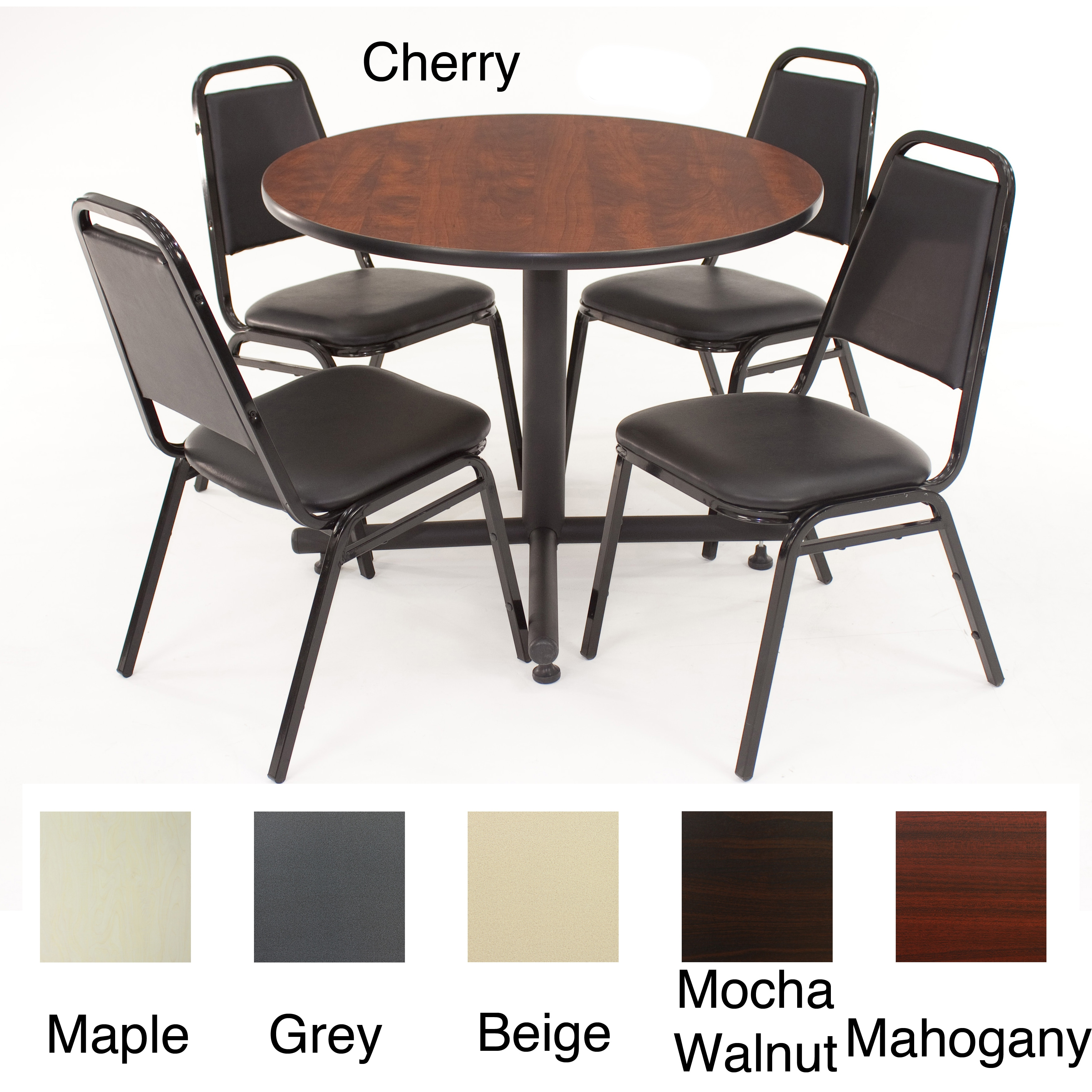 regency seating 36inch round table with 4 chairs