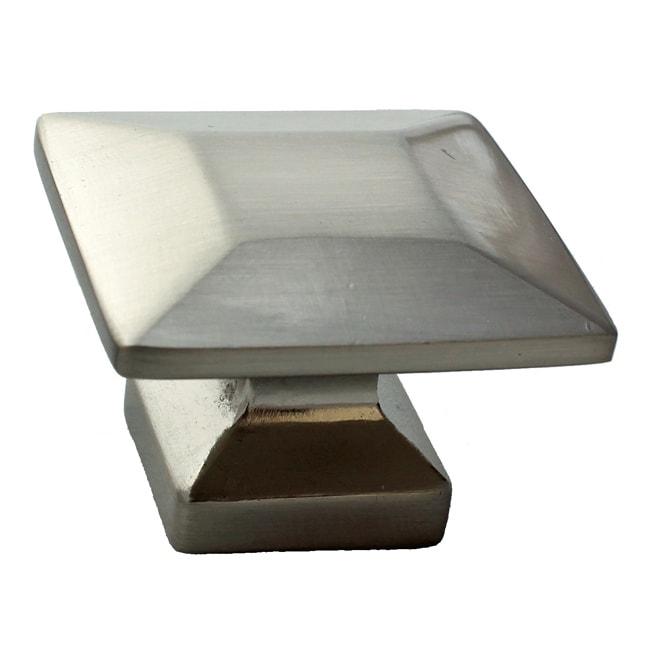 Overstock Kitchen Cabinet Hardware: GlideRite Square Satin Nickel Cabinet Knobs (Pack Of 10