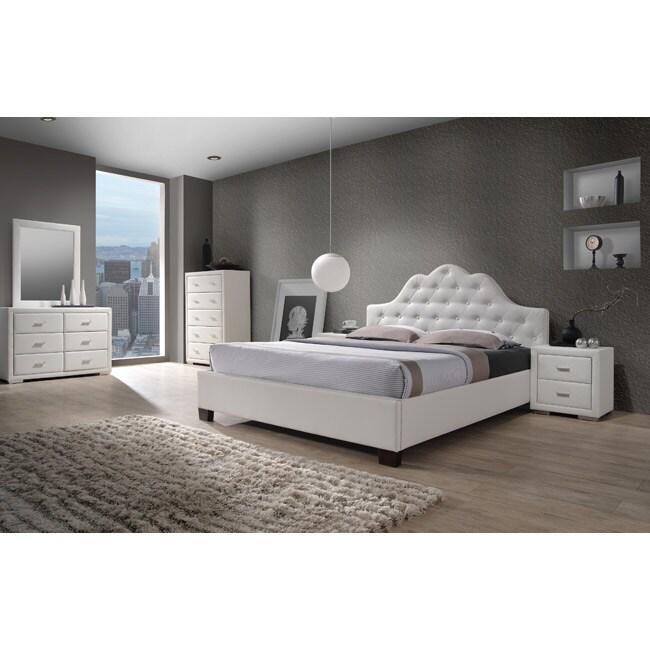 Overstock Com Bedroom Furniture: Cassidy White King Size 5 Piece Bedroom Set