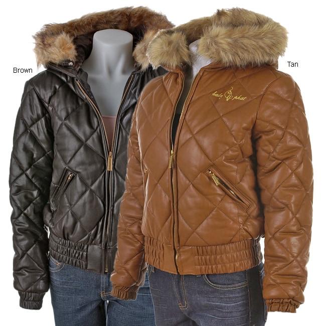 Baby Phat Italian Lamb Leather Jacket 423948 Overstock
