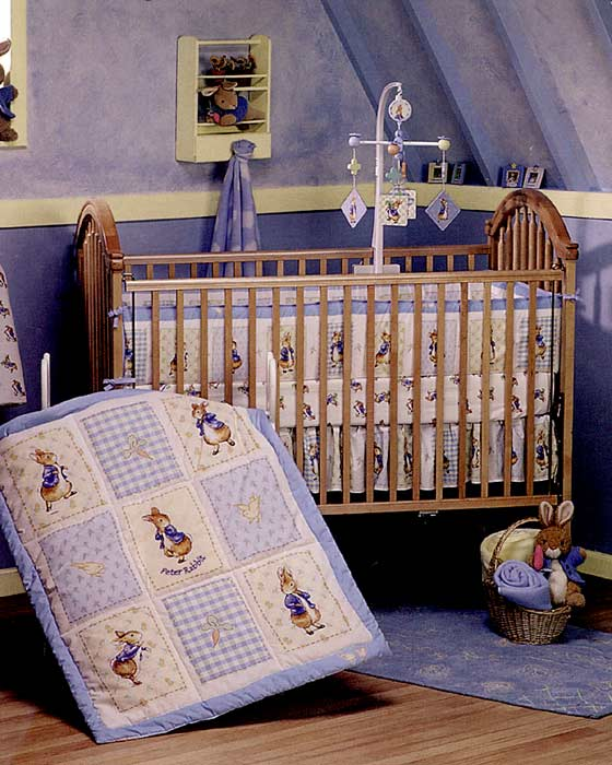 Deluxe 3 Piece Peter Rabbit Crib Bedding Set 058210