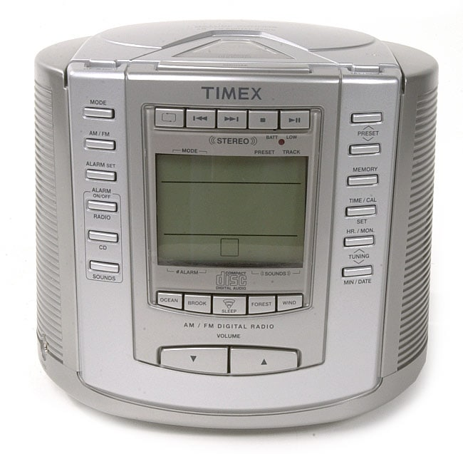 Timex T601s Cd Clock Radio With Nature Sounds 066690