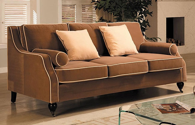Carolyn Sofa With Contrast Piping 80000768 Overstock