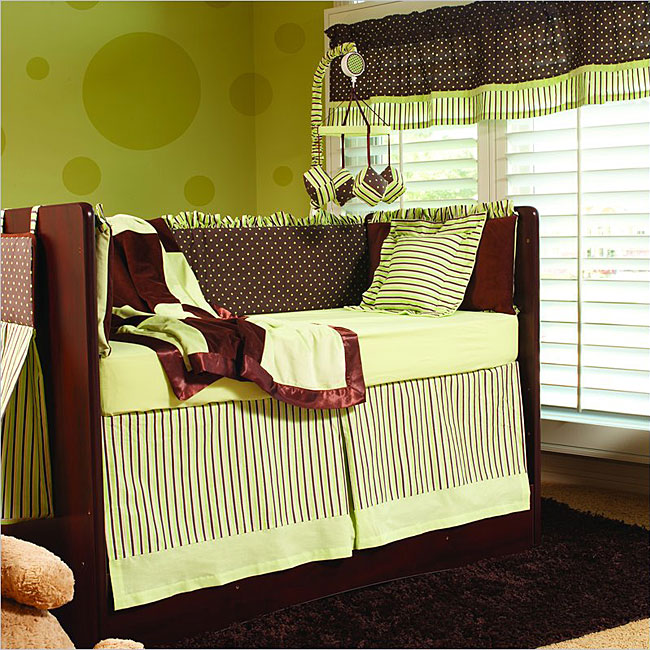 Kathy Ireland Chocolate Mint 4 Piece Crib Bedding Set