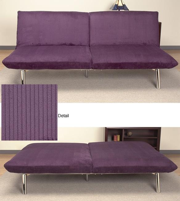 Modena Eggplant Corduroy Sofa Bed 80030098 Overstock