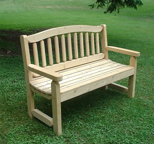 Adirondack Cedar Park And Garden Wooden Bench 927081