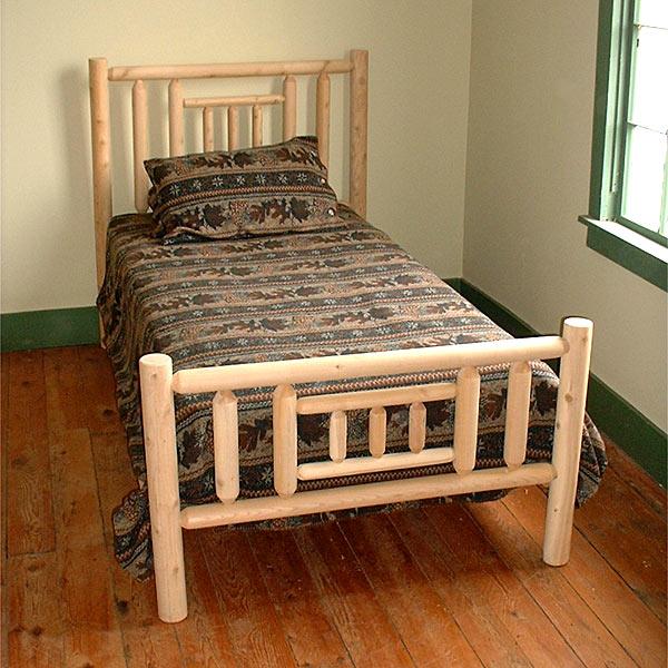 Rustic Log Pole Cedar Adirondack Quilt Bed Twin 927135