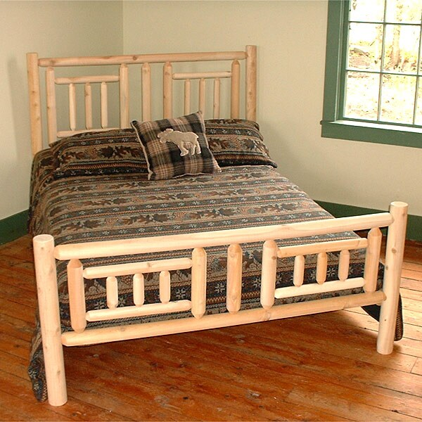 Adirondack Rustic Log Pole Cedar Queen Size Quilt Bed