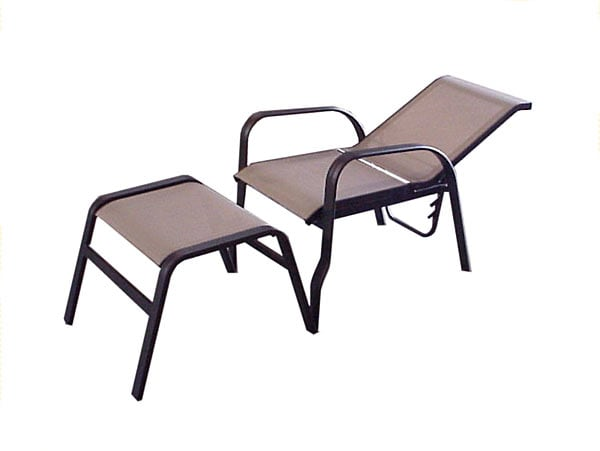 Aluminum Executive Reclining Chair With Ottoman 932385
