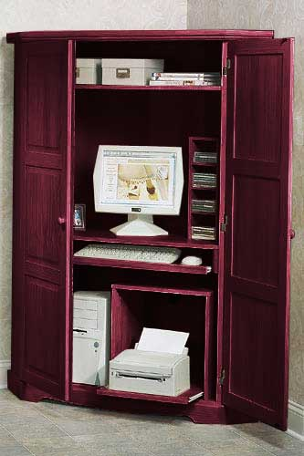 Canterbury Tall Corner Computer Armoire 940497