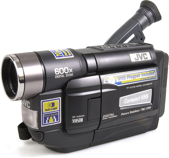 Jvc Gr Axm341 Vhs C Analog Camcorder With 3 Inch Lcd Refurbished On Popscreen