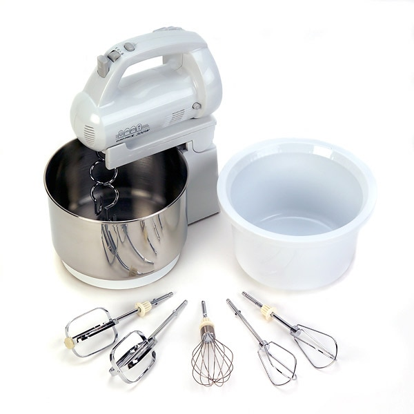 Euro Pro Ep565wp 300 Watt Hand Stand Mixer With Two Bowls