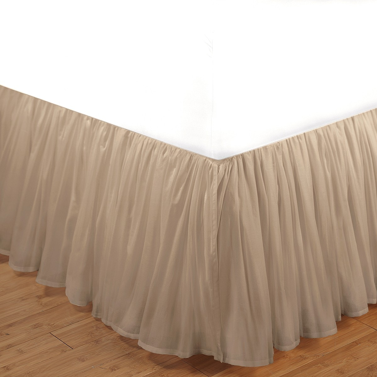 So guessing it out as a means to pick the right skirt; don't assume that your queen size bed is 60