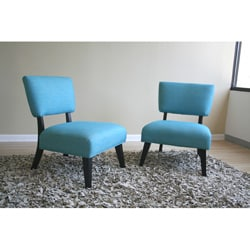 Tiffany Turquoise Accent Chair Set Of 2 10800625