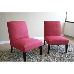 Sheadon Metallic Hot Pink Accent Chairs Set Of 2