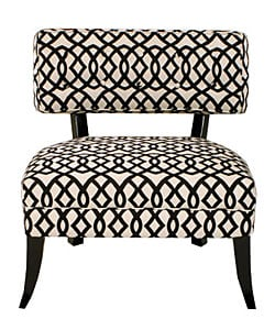 Jar Designs Lucy Black White Accent Chair 10871139