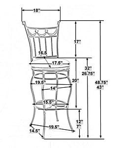Carlow Extension Leg Stool 10890921 Overstock Com