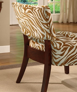 Occasional Chair Brown Zebra Print 11161007 Overstock