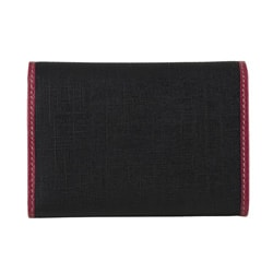76e7cf43a14 Gucci Small Black  Pink PVC Tri fold Wallet on PopScreen