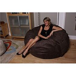 lovesac moviesac 5 foot foam lounge chair brown