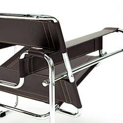 Marcel Brown Leather Accent Chair 11937623 Overstock