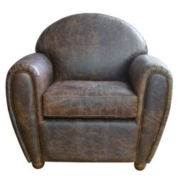 Classic Cigar Style Vintage Leather Club Chair 12521800