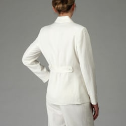 John Meyer Women S Ivory Linen Blend Pant Suit 12659924