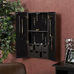 Mirrored Double-door Wall-mount Jewelry Box - 12738455 ...