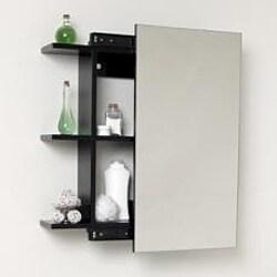 Fresca Espresso Bathroom Medicine Cabinet With Sliding