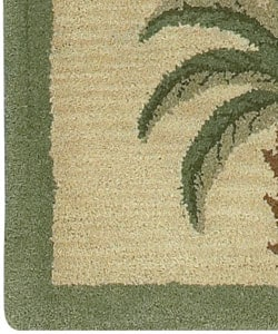 Hand Tufted Palm Tree Wool Rug 5 X 7 1016997