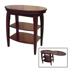 Cherry End Table With Swivel Extension 11339077