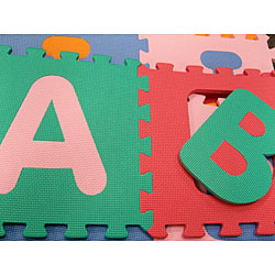 Kids 36 Square Foot Alphabet And Number Floor Puzzle Mat
