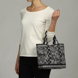 Lily Waters Tina Quilted Tote Bag 13338774 Overstock