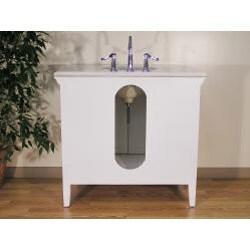 White Marble Top 38-inch Single-sink Bathroom Vanity ...