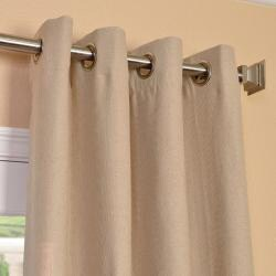 Exclusive Fabrics Natural Linen Blend Grommet Curtain