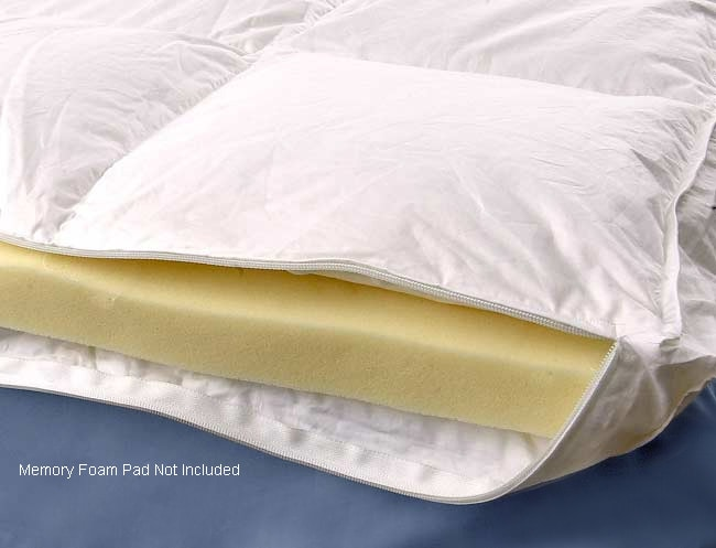 Down Alternative Gusseted Design Euro Top Cover For Memory Foam Topper 1016039 Overstock Com