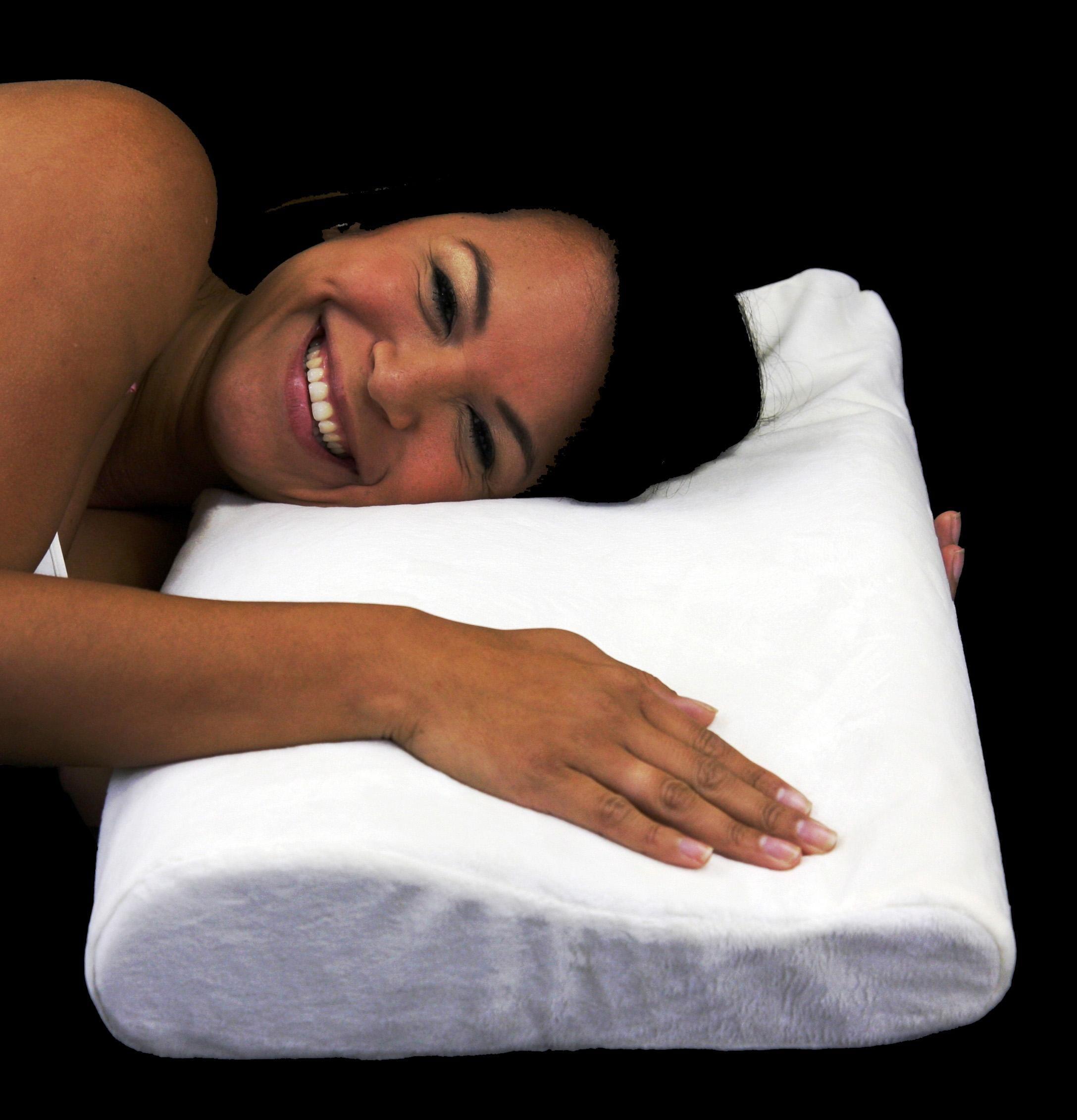 Soft Ergonomic Contour Visco Memory Foam Pillow 13324447