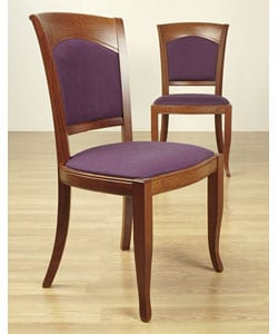 Omega Eggplant Molasses Set Of Two Side Chairs 10182409