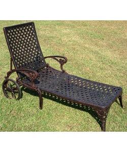 Nassau Bronze Cast Aluminum Chaise Lounge 10374937