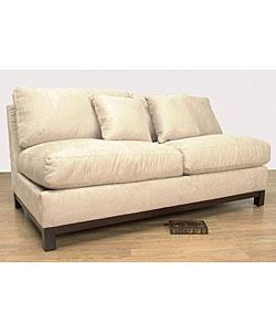 Ivory Armless Full Size Sleeper Loveseat 10464383