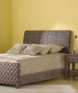 Raffia Wicker Queen Size Bed 10513438 Overstock Com