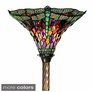 Tiffany Style Dragonfly Torchiere Lamp