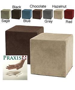 Deluxe Memory Foam Cube Ottoman 10737613 Overstock Com