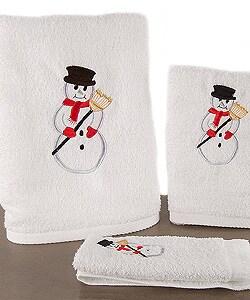 Set Of 6 Snowman Towels 11085575 Overstock Com